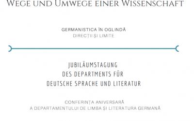 Jubiläumstagung | GERMANISTIK IM SPIEGEL, Wege und Umwege einer Wissenschaft