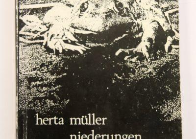 Erstausgabe von Herta Müller