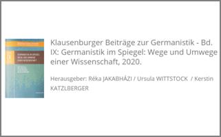 Neuerscheinung | Germanistik im Spiegel: Wege und Umwege einer Wissenschaft