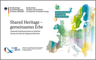 """Presseinformation/Einladung: Veranstaltungsreihe """"Shared Heritage – Gemeinsames Erbe"""" – Berlin, Hamburg, Leipzig, München, Weimar / 3.11. – 8.12.2020"""