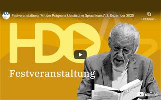 Ehrung des Schriftstellers Hans Bergel in seinem 95. Lebensjahr